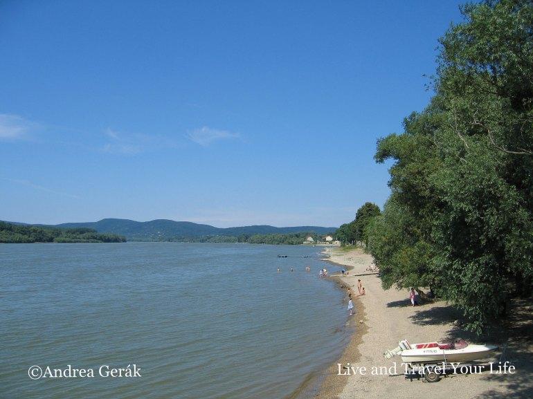 Beach on the Danube in Hungary
