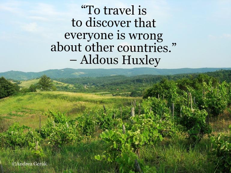 Huxley travel quote