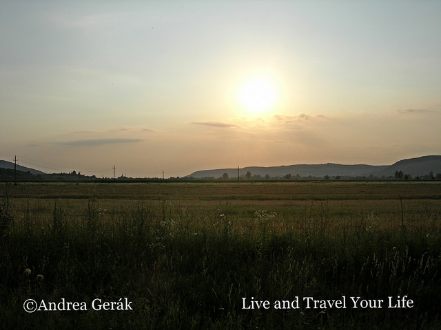 Sunset over the Sajo Valley, just outside of my hometown in Hungary. Photo: Andrea Gerak