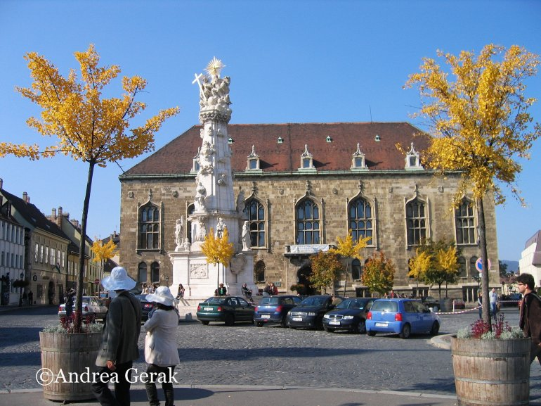 Trinity Square in the Buda Castle district, Budapest